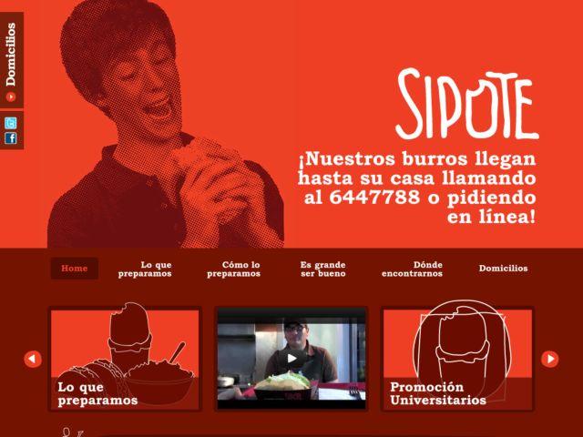 screenshot of Sipote Burrito