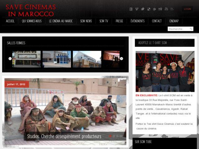 screenshot of Save Cinemas in Marocco