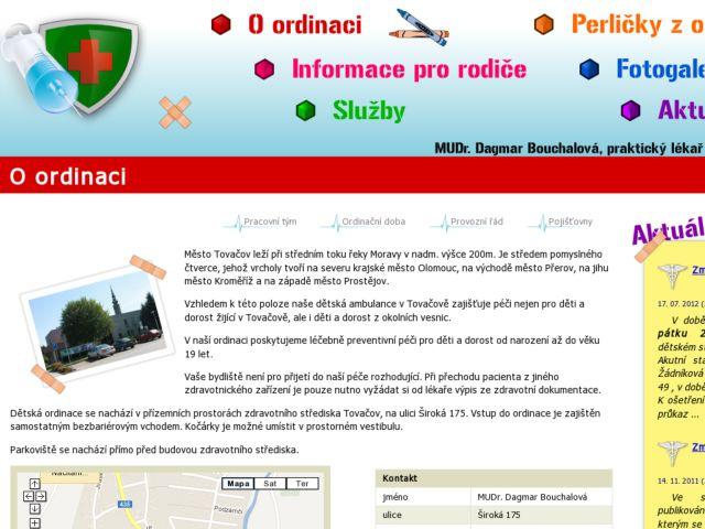 screenshot of MUDr. Dagmar Bouchalova