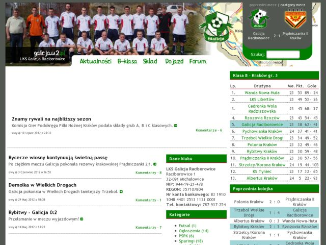 Galicja Raciborowice Offical WebPage
