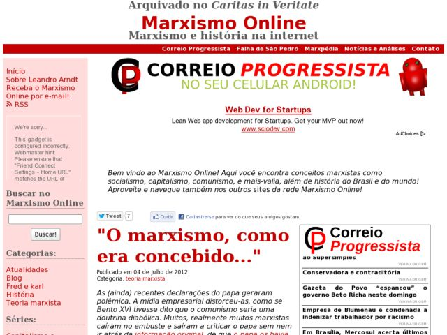 screenshot of Marxismo Online