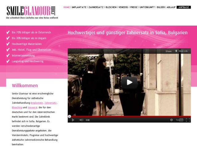 screenshot of SmileGlamour.com