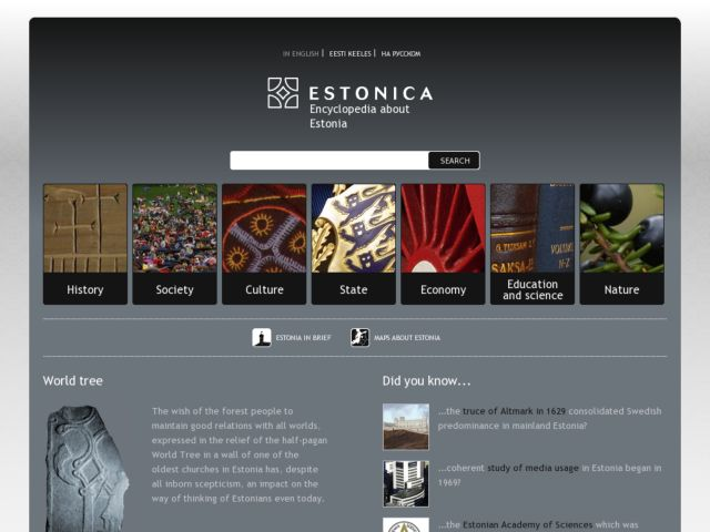 Estonica.org Encyclopaedia