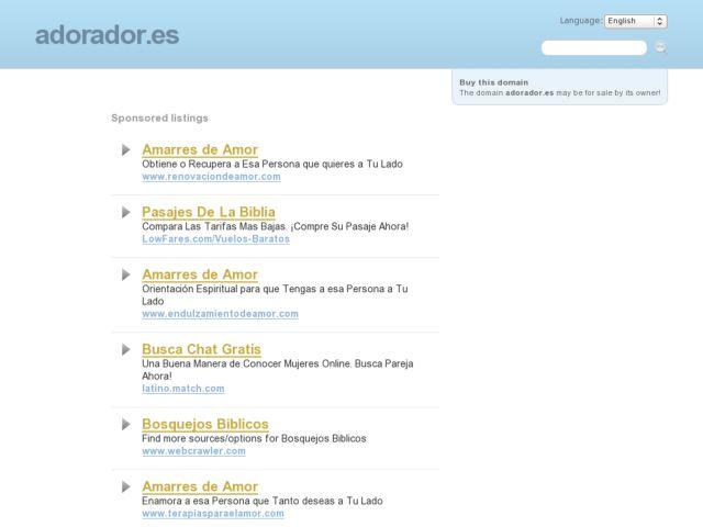 screenshot of adorador.es :: rede social cristã