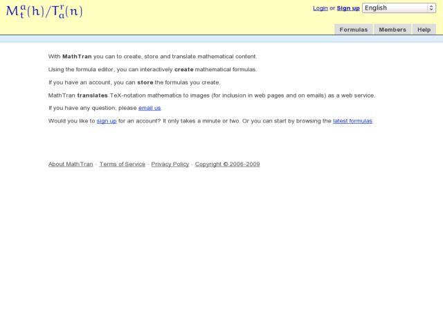 MathTran: Flickr for formulas