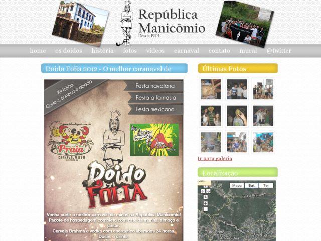 screenshot of República Manicômio