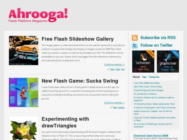 Ahrooga! - Flash Platform Magazine