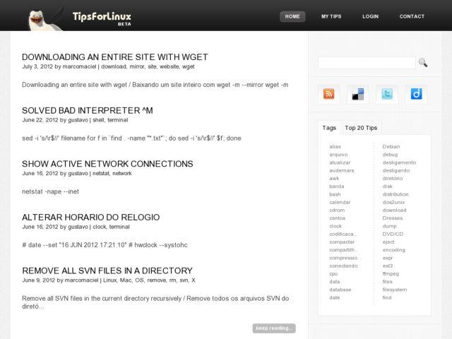 screenshot of TipsForLinux