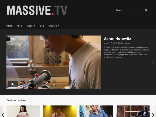 screenshot of Massive.tv: Always Recording