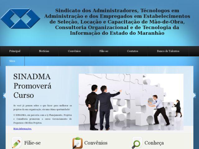screenshot of SINADMA