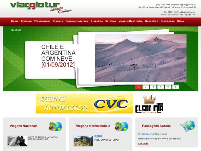 screenshot of Viaggiotur Tourism