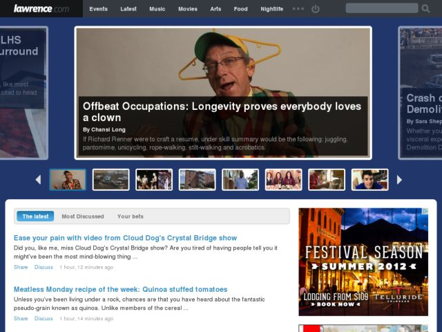 screenshot of lawrence.com