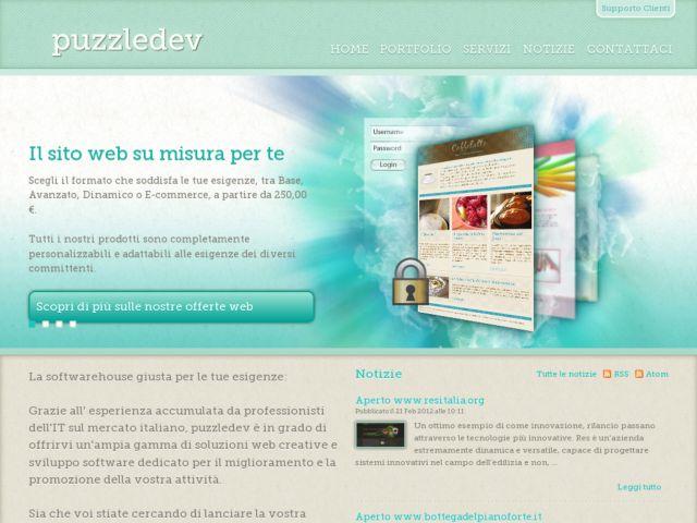 screenshot of PuzzleDev Web creations
