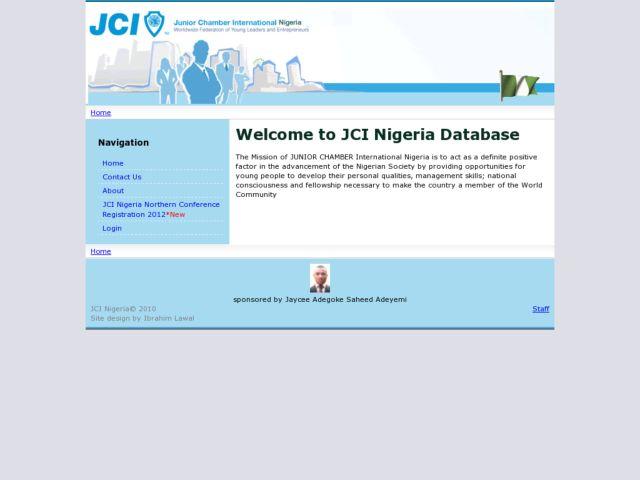 screenshot of JCI Nigeria Database