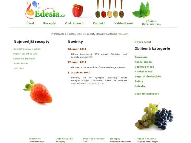 Edesia.cz - internet cookbook