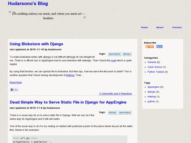MeBlob Blogging on AppEngine