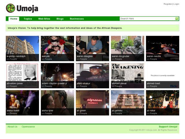 screenshot of Umoja