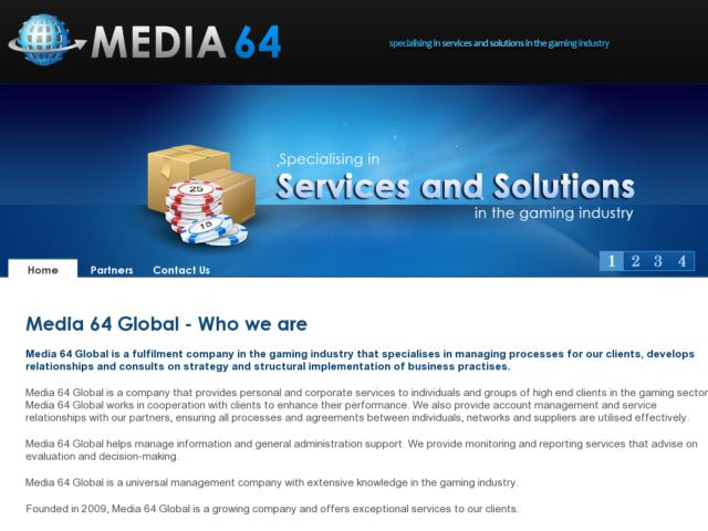 screenshot of Media 64 Global