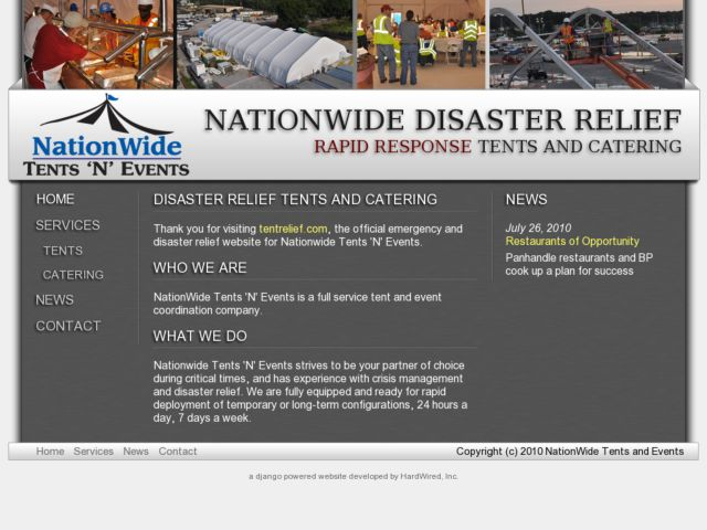 Nationwide Disaster Relief Tents