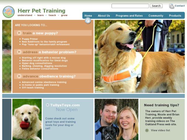 screenshot of Herr Pet Training