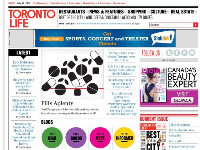 screenshot of Toronto Life