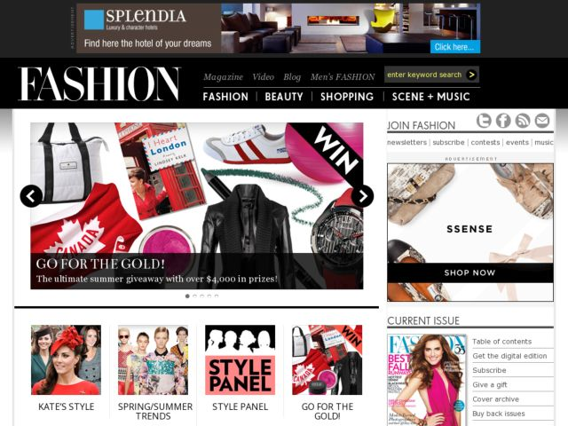 screenshot of www.fashion18.com