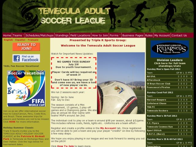Temecula Adult Soccer League