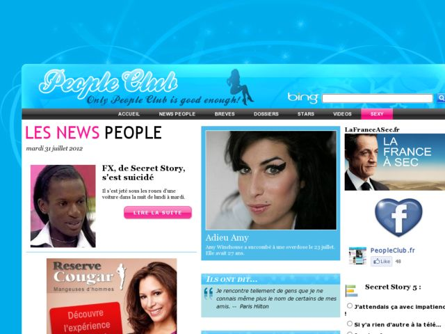 screenshot of People Club