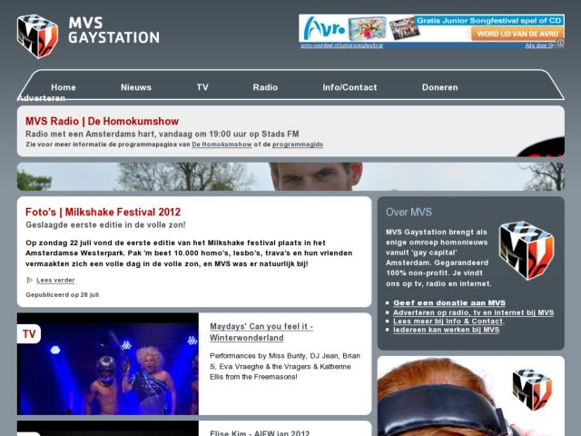 screenshot of MVS Gaystation