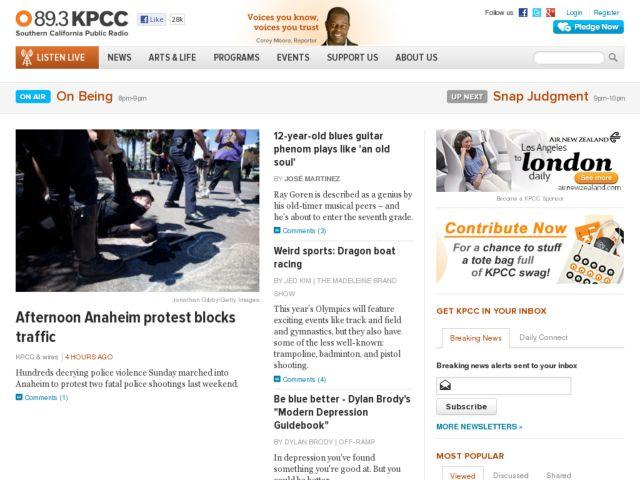 screenshot of KPCC