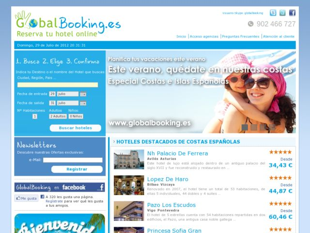 screenshot of Globalbooking