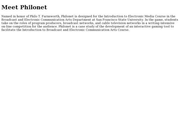 screenshot of Philonet