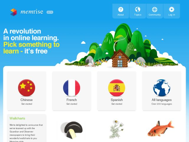 screenshot of Memrise