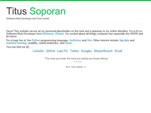 Titus Soporan