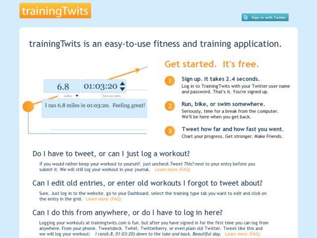 screenshot of Training Twits