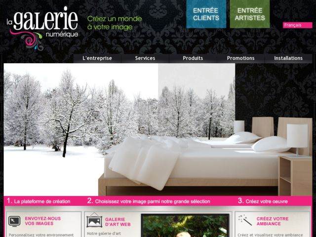 screenshot of The Digital Gallery