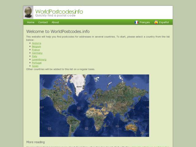 WorldPostcodes.info