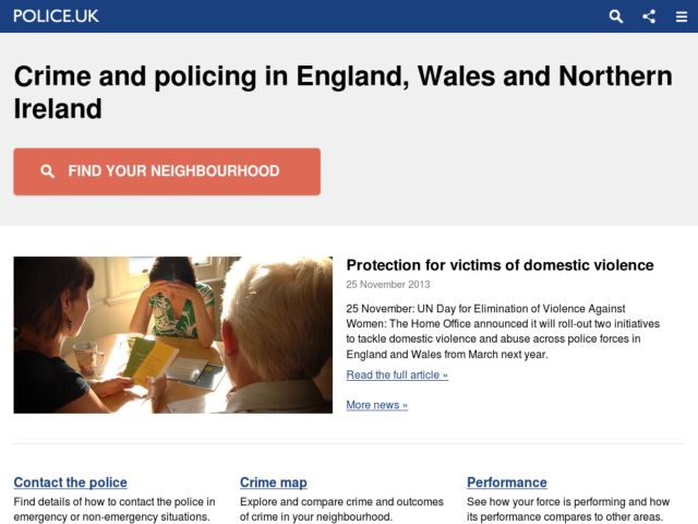 screenshot of Police.uk