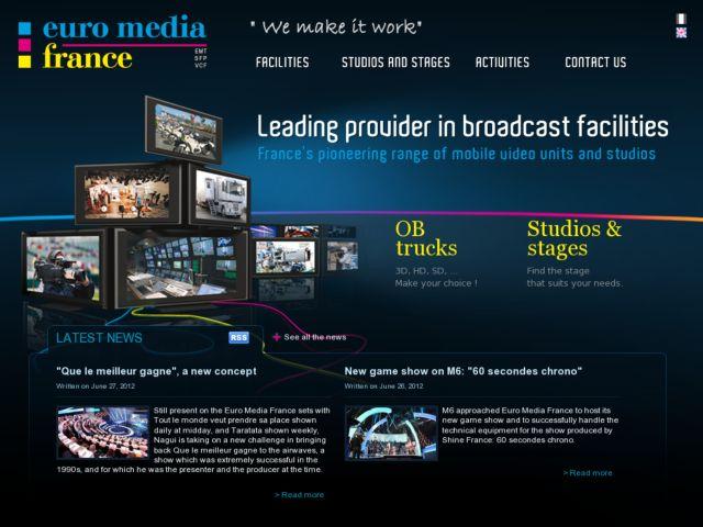 screenshot of Euro Media France