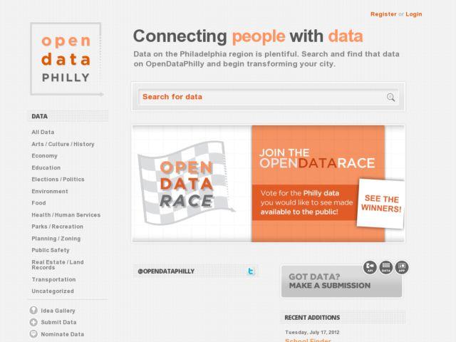 screenshot of OpenDataPhilly