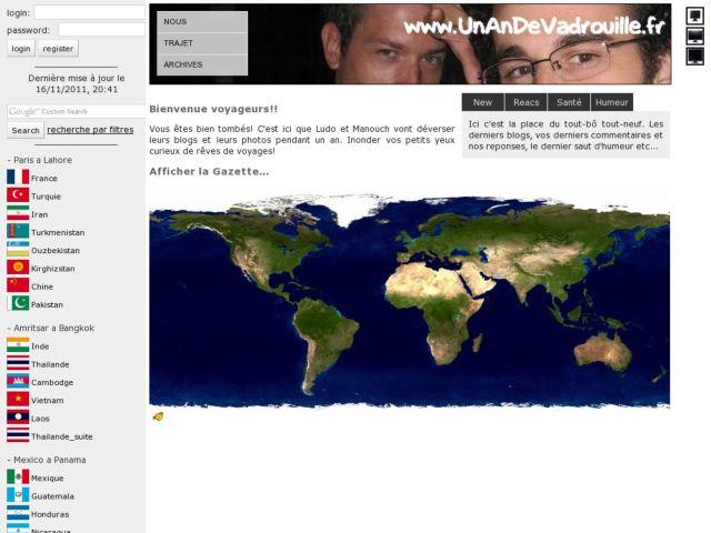 screenshot of unandevadrouille.fr