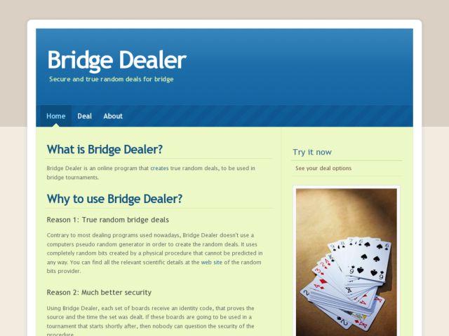 Bridge Dealer.