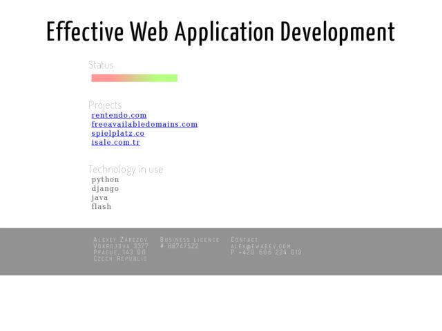 Effective Web Application Development