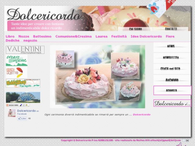 screenshot of dolcericordo