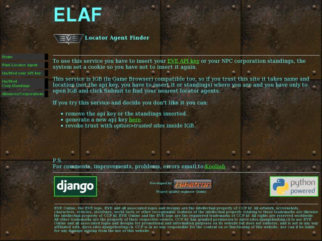 ELAF Eve online Locator Agent Finder