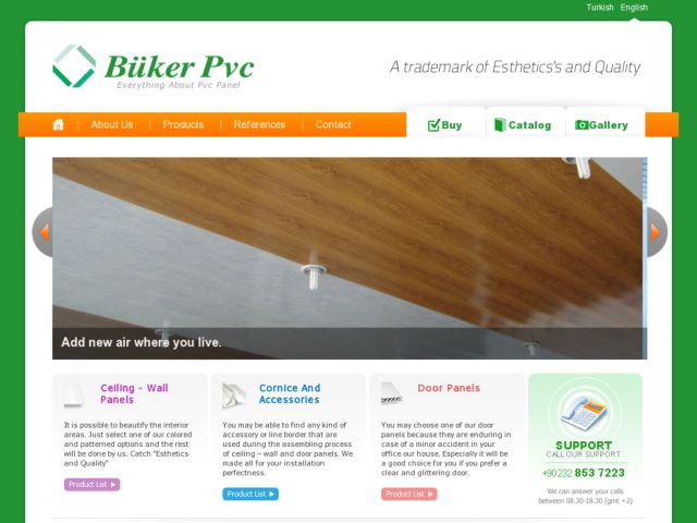 screenshot of Büker PVC