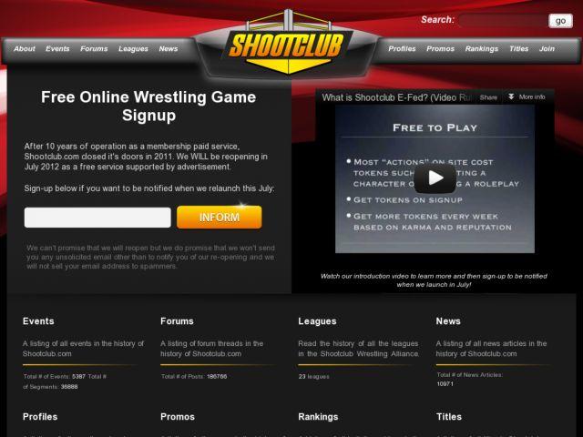 Shootclub Online Wrestling Games