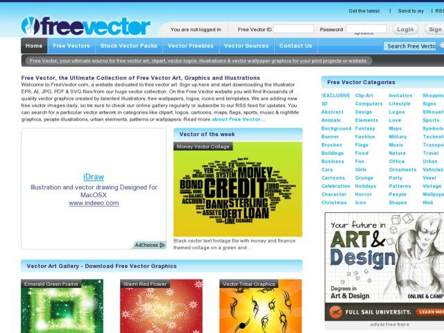 screenshot of Free Vector