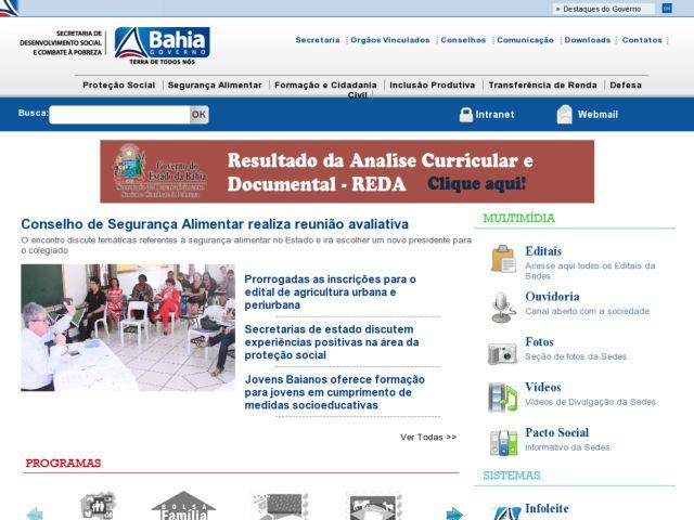 Sedes - Secretary of Social Development - Bahia , Brazil