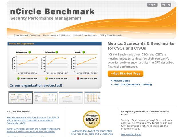 screenshot of nCircle Benchmark